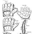Baseball Glove Patent 1910 by Bill Cannon