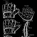 Baseball Glove Patent 1910 In Black by Bill Cannon