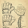 Baseball Glove Patent 1910 Sepia by Bill Cannon