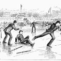 Baseball On Ice, 1884 by Granger