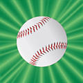 Baseball Over Green by Bigalbaloo Stock