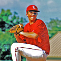 Baseball Pitcher by Marilyn Holkham