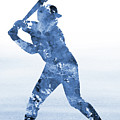 Baseball Player-blue by Erzebet S