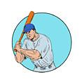 Baseball Player Holding Bat Drawing by Aloysius Patrimonio
