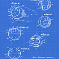 Baseball Training Device Patent 1961 Blueprint by Bill Cannon