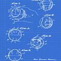 Baseball Training Device Patent 1961 Blueprint by Bill Cannon
