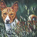 Basenji In Grass by Lee Ann Shepard