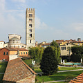 Basilica Di San Frediano With Palazzo Pfanner Gardens by Kiril Stanchev