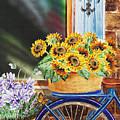 Basket Full Of Sunflowers by Irina Sztukowski
