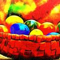 Basket Of Eggs - Pa by Leonardo Digenio