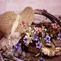 Basket Of Flowers by Eleanor Caputo