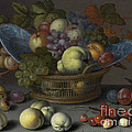 Basket Of Fruits by Balthasar Van Der Ast