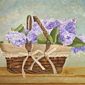 Basket Of Lilacs by Angeles M Pomata