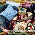 Basket Of Sewing Supplies by Susan Savad