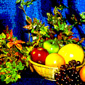 Basket With Fruit by Nancy Mueller