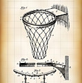 Basketball Goal Patent 1924 by Daniel Hagerman