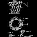 Basketball Net Patent 1951 In Black by Bill Cannon