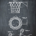 Basketball Net Patent 1951 In Chalk by Bill Cannon