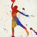 Basketball Player Paint Splatter by Dan Sproul