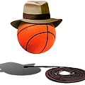 Basketball With Fedora by Gravityx9  Designs