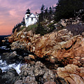 Bass Harbor Head Lighthouse In Maine by Skip Willits
