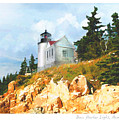Bass Harbor Light by Ernestine Grindal