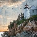 Bass Harbor Lighthouse On Maine Nautical Chart by Jeff Folger