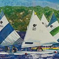 Bass Lake Races  by LeAnne Sowa
