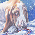 Basset Hound Christmas by Lee Ann Shepard