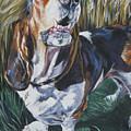 Basset Hound In Wheat by Lee Ann Shepard