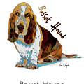 Basset Hound Pop Art by Tim Wemple