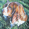Bassett Hound 1 by Lee Ann Shepard