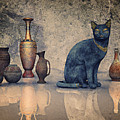 Bastet And Pottery by Jutta Maria Pusl