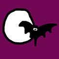 Bat N Moon by Jera Sky