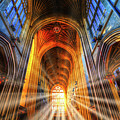 Bath Abbey Sun Rays by David Pyatt