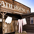 Bath House In Old Tucson by Wendy White