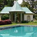 Chanticleer Bath House A by Jeannie Rhode