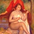 Bather And Maid The Toilet by Renoir PierreAuguste