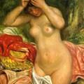 Bather Arranging Her Hair 1893 by Renoir PierreAuguste