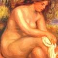 Bather Drying Her Leg by Renoir PierreAuguste