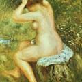 Bather Is Styling 1890 by Renoir PierreAuguste