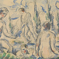 Bathers, 1890-1892.  by Paul Cezanne