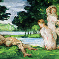 Bathers Male And Female by Paul Cezanne
