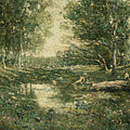 Bathers. Woodland by Ernest Lawson
