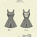 Bathing Suit 1940 Patent Art by Prior Art Design