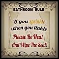Bathroom Rule by PrettTea Art Gallery By Teaya Simms