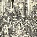 Bathsheba At Her Bath by Hans Burgkmair I