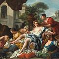 Bathsheba At Her Bath by Jean-Francois Detroy
