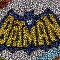 Batman Bottle Cap Mosaic by Paul Van Scott