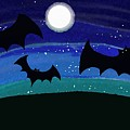 Bats At Night by Priscilla Wolfe